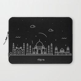 Agra Minimal Nightscape / Skyline Drawing Laptop Sleeve