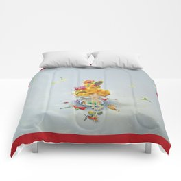 Year of the Rooster (with border) Comforters