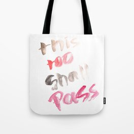 141116 Typography 7 Tote Bag
