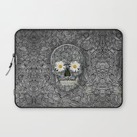 calavera Laptop Sleeves featuring Calavera by AkuMimpi