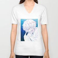 tokyo ghoul V-neck T-shirts featuring Tokyo Ghoul  by Neo Crystal Tokyo