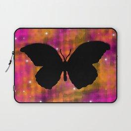 Butterfly Galaxy Watercolor Laptop Sleeve