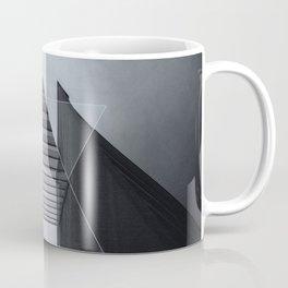 The Hotel (experimental futuristic architecture photo art in modern black & white) Coffee Mug