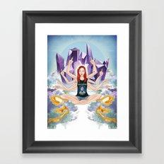 Inessa of IDGAF Framed Art Print