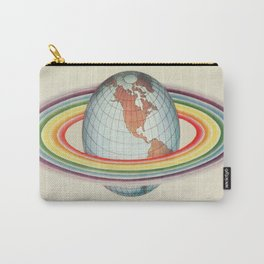 Psycho-harmonial philosophy - Peter Pearson - 1910  Rainbow Saturn Rings Around Earth Carry-All Pouch