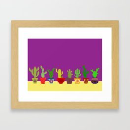 Cactus in Purple Framed Art Print