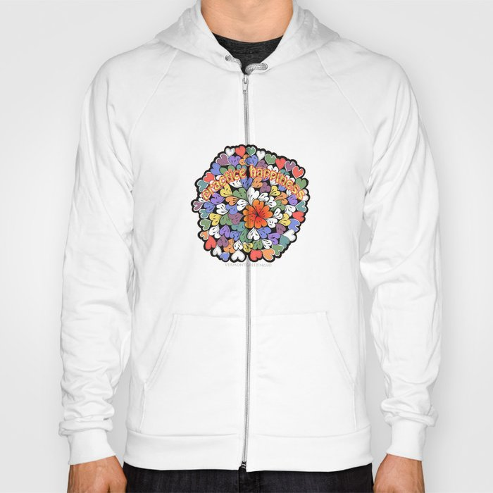 Zentangle Practice Happiness Illustration Hoody