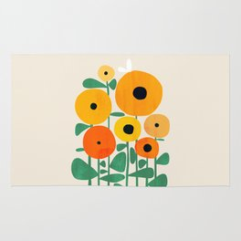 Sunflower and Bee Rug
