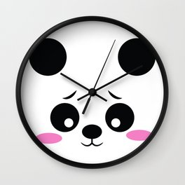 Panda Funny Pregnancy Announcement Wall Clock