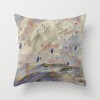 anxiety Throw Pillows featuring Anxiety by Kali Thomas