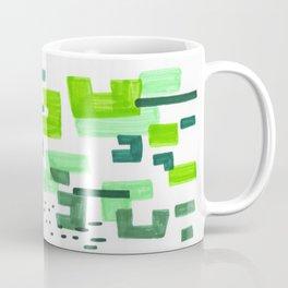 Colorful Green Minimalist Abstract Mid Century Modern Pattern Geometric Fun Art Coffee Mug