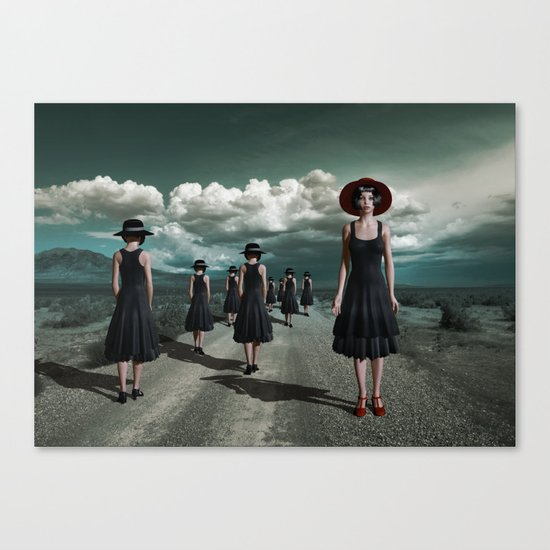 Road of girls Canvas Print