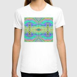 Flowing Life Art Fractal 1 Double T-shirt