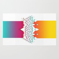 spires Area & Throw Rugs featuring Spires : Crystyl Cystlys Spectrym  by Spires