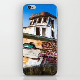 An Wooden old Ship 2 iPhone Skin