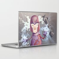 xmen Laptop & iPad Skins featuring Magneto Kaffee Time by Emilio Rizzo