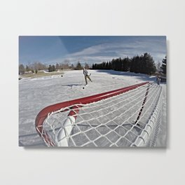 Pond Hockey Metal Print