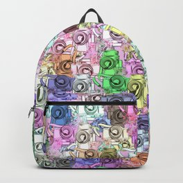 camera toy pattern Backpack
