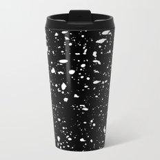 Retro Speckle Print - Black Metal Travel Mug