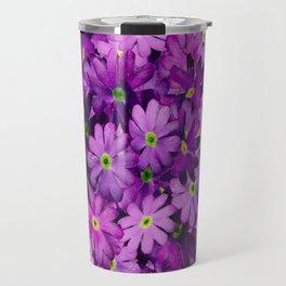Purple Wild Flowers Travel Mug