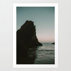 Oregon Coast Dark Ocean Art Print