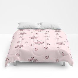 Sweet Sakura Smiles - Springtime - Blushing Pink Comforters