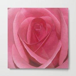 Blushing Rose Metal Print