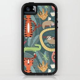 Rain forest animals 003 iPhone Case