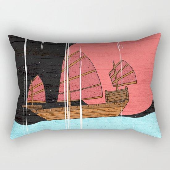 Oriental Sailing Rectangular Pillow