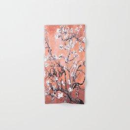 Van Gogh Almond Blossoms : Deep Peach Hand & Bath Towel