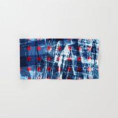 dots on blue ice Hand & Bath Towel