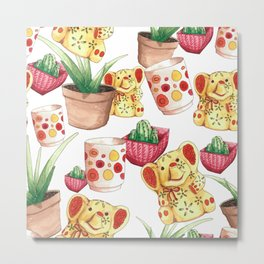 All the Cute Stuff Pattern Metal Print