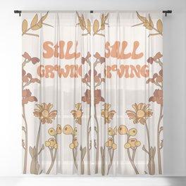 Still Growing Sheer Curtain