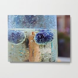 Blueberries and champy Metal Print