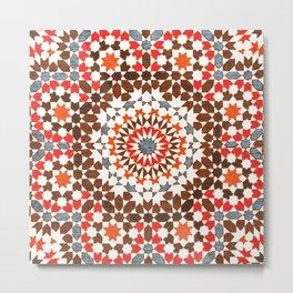 N64 - Traditional Geometric Moroccan Vintage Style Artwork Metal Print