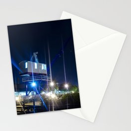 Shining Cranes Night Urban Landscape Photograph Stationery Cards