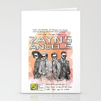 cyrilliart Stationery Cards featuring Zayn's Angels by Cyrilliart