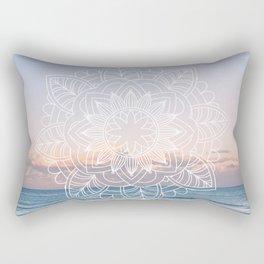 Twilight surf mandala Rectangular Pillow