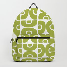 Groovy Mid Century Modern Pattern Chartreuse Backpack