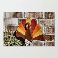 turkey Canvas Prints featuring Turkey Day by IowaShots