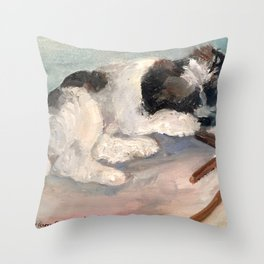 Puppy Delight Throw Pillow