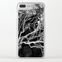 Black Rock II Clear iPhone Case