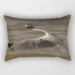 Seagull without head in the #sky  Rectangular Pillow