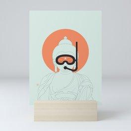 Buddha : Take A Deep Breath! Mini Art Print