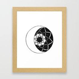 Crescent Moon Mandala Framed Art Print