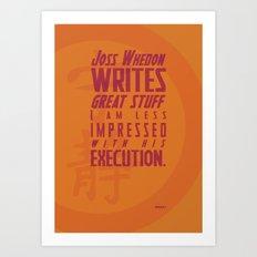 Nerdism 2 - Joss Whedon Art Print