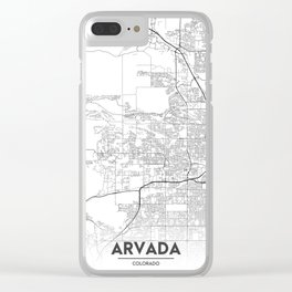 Minimal City Maps - Map Of Arvada, Colorado, United States Clear iPhone Case
