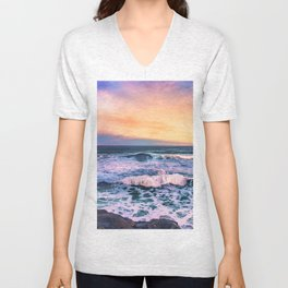 Sunset of the Bay of Biscay Unisex V-Neck