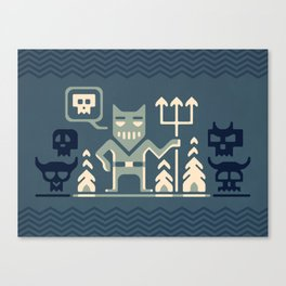 Skull collector Canvas Print