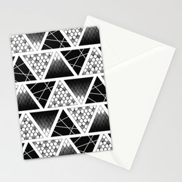 Zentangle Triangles Stationery Cards